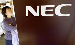 <p>Il logo dell'azienda elettronica giapponese Nec. REUTERS/Kim Kyung-Hoon</p>