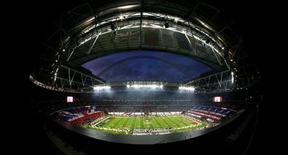 <p>Un'immagine dello stadio di Wembley. REUTERS/Pool</p>