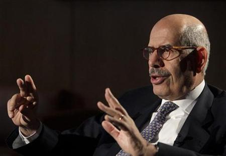 IAEA Director General ElBaradei reacts during an interview with Reutes in Vienna's U.N. headquarters November 25, 2009. REUTERS/Herwig Prammer