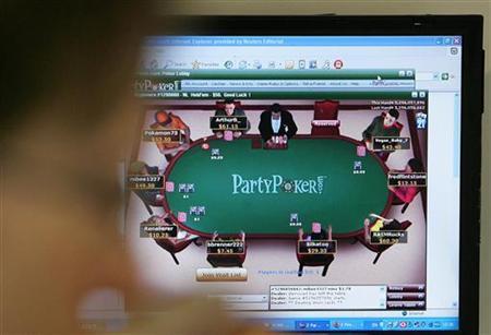 A computer screen displays an online gambling website, October 2, 2006. REUTERS/Toby Melville