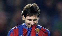 <p>Lionel Messi durante una partita domenica scorsa REUTERS/Gustau Nacarino</p>