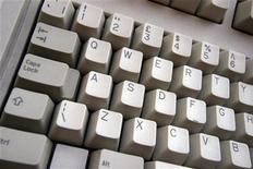 <p>La tastiera di un pc. REUTERS/Catherine Benson</p>