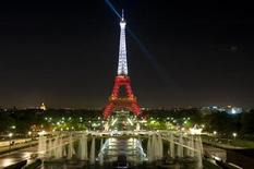 <p>The Eiffel Tower is seen lighted in the colours of Turkey as part of events marking the 'Season of Turkey in France', in Paris October 6, 2009. REUTERS/Gonzalo Fuentes</p>