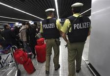 <p>Un'immagine della polizia tedesca. REUTERS/Ralph Orlowski</p>