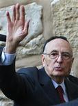 <p>Il presidente della Repubblica Giorgio Napolitano. REUTERS/Ammar Awad</p>