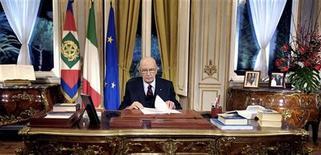 <p>Giorgio Napolitano in una foto d'archivio. REUTERS/Enrico Oliverio/Ho New</p>