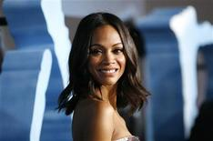 """<p>Cast member Zoe Saldana poses at the premiere of """"Avatar"""" at the Mann's Grauman Chinese theatre in Hollywood, California December 16, 2009. REUTERS/Mario Anzuoni</p>"""