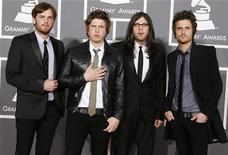 <p>The Kings of Leon arrive at the 51st annual Grammy Awards in Los Angeles January 31, 2009. REUTERS/Danny Moloshok</p>