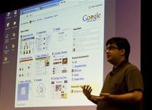 <p>La presentazione di Google Chrome a Mountain View. REUTERS/Kimberly White</p>
