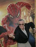 """<p>Stan Lee, creator of the Spider-Man character, poses at the premiere of """"Spider-Man 2,"""" in Los Angeles, June 22, 2004. REUTERS/Fred Prouser</p>"""