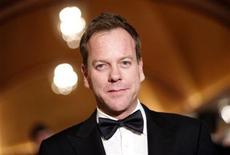 <p>Actor Kiefer Sutherland arrives at the 62nd Annual Directors Guild of America Awards in Los Angeles January 30, 2010. REUTERS/Danny Moloshok</p>
