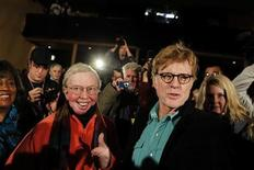 <p>Actor, director and Sundance Film Festival founder Robert Redford (R) smiles next to film critic Roger Ebert following a news conference on the first day of the 2010 Sundance Film Festival in Park City, Utah January 21, 2010. REUTERS/Lucas Jackson</p>
