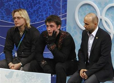 Figure skater Brian Joubert hit by Olympic jinx again