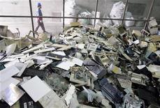 <p>Discarica di computer nei pressi di Taiwan, foto d'archivio. REUTERS/Pichi Chuang</p>
