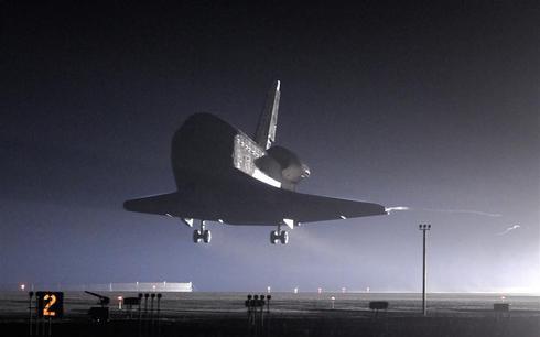 Endeavour returns home