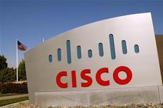 <p>Il logo di Cisco nel campus di San José. REUTERS/Robert Galbraith (UNITED STATES - Tags: BUSINESS SCI TECH)</p>