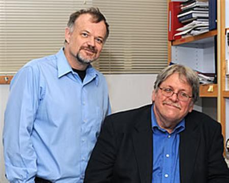 Dr. Richard Gibbs (L) and Dr. James Lupski in a photo courtesy of the Baylor College of Medicine. REUTERS/Handout