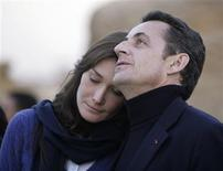 "<p>France's President Nicolas Sarkozy (R), seen in this December 30, 2007 file photo, with former supermodel Carla Bruni before they were married during a visit to the Giza pyramids in Cairo. The former supermodel Bruni-Sarkozy has said her husband, French President Nicolas Sarkozy, would never cheat on her and has described their love story as a ""real fairy tale"". Bruni-Sarkozy, who married Sarkozy two years ago after a whirlwind romance, made the comments on Britain's Sky News television in an interview released on March 10, 2010 and recorded March 5. REUTERS/Nasser Nuri/Files</p>"