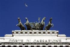 <p>La Corte di Cassazione. REUTERS/Alessandro Bianchi</p>