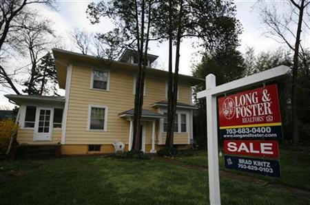 A house for sale is pictured in Alexandria, Virginia March 22, 2010. REUTERS/Molly Riley
