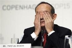 <p>Yvo de Boer, head of the U.N. Climate Change Secretariat REUTERS/Ints Kalnins/Files</p>