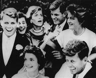 <p>The Kennedy siblings are seen at the wedding reception of Jacqueline Bouvier to John F. Kennedy, September 12, 1953. Clockwise from left: Robert F. Kennedy, Patricia Kennedy, Eunice Kennedy Shriver, Edward M. Kennedy, Jean Kennedy, John F. Kennedy, Jacqueline Bouvier Kennedy. REUTERS/Toni Frissell/John F. Kennedy Presidential Library and Museum/Handout</p>
