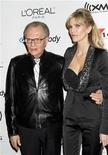 <p>Television personality Larry King (L) and his wife Shawn Southwick arrive at a pre-Grammy party hosted by Clive Davis at the Beverly Hills Hilton in Beverly Hills, California February 7, 2006. REUTERS/Fred Prouser</p>