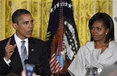 <p>Foto d'archivio, il presidente Barack Obama durante una conferenza sulle tematiche Lgbt (lesbiche, gay, bisessuali e transessuali). REUTERS/Jim Young</p>