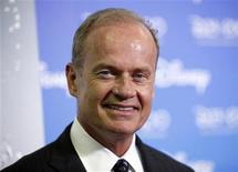 """<p>Actor Kelsey Grammer, the star of the television show """"Hank"""" arrives at """"The ABC's of Disney"""", which gave attendees a look at the upcoming ABC fall schedule at Walt Disney Company's D23 Expo in Anaheim, California September 10, 2009. REUTERS/Danny Moloshok</p>"""
