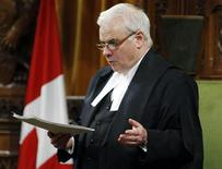 <p>House of Commons Speaker Peter Milliken reads his ruling that opposition members of parliament have the right to ask for uncensored Afghan detainee documents from the government in the House of Commons on Parliament Hill in Ottawa April 27, 2010. REUTERS/Blair Gable</p>