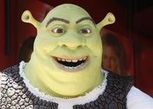<p>Character 'Shrek' waits during ceremonies to unveil its star on the Hollywood Walk of Fame in Hollywood May 20, 2010. REUTERS/Fred Prouser</p>