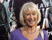 """<p>Actress Helen Mirren arrives for the premiere of the film """"Jonah Hex"""" in Hollywood, California, June 17, 2010. REUTERS/Jason Redmond</p>"""