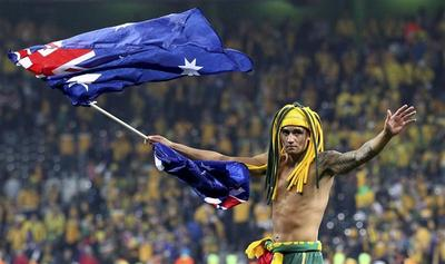 A shirtless World Cup