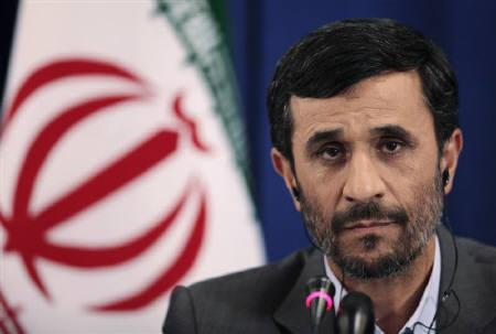 Iran's President Mahmoud Ahmadinejad is seen during a news conference in New York, in this September 25, 2009 file photo. Iranian planes continue to refuel at airports around the world a day after an Iranian news report said aircraft had been denied fuel in Germany, Britain and a Gulf Arab state due to U.S. sanctions. REUTERS/Lucas Jackson