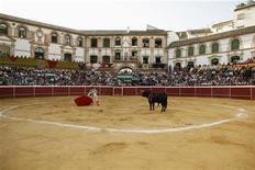 <p>Матадор Вега готовится к схватке с быком на арене для корриды недалеко от Малаги 23 июля 2010 года. Каталония первой из провинций материковой Испании запретила корриду. REUTERS/Jon Nazca</p>