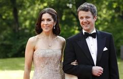 <p>Crown Prince Frederik and Princess Mary of Denmark arrive for a Government dinner at the Eric Ericson Hall in Skeppsholmen June 18, 2010, to celebrate the wedding of Sweden's Crown Princess Victoria and Daniel Westling, who will be married in Stockholm Cathedral on June 19. REUTERS/Fabrizio Bensch</p>