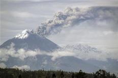 <p>Извержение вулкана Тунгурахуа в Эквадоре, 27 июня 2010 года. Подземные толчки силой 6,9 балла по шкале Рихтера сотрясли Эквадор в четверг, сообщила Геологическая служба США. REUTERS/Carlos Campana</p>
