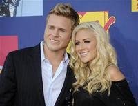 <p>Reality television personalities Spencer Pratt (L) and Heidi Montag arrive at the 2008 MTV Video Music Awards in Los Angeles September 7, 2008. REUTERS/Phil McCarten</p>