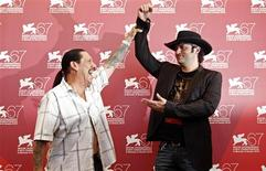 """<p>Actor Danny Trejo (L) and director Robert Rodriguez pose for photographers during a photocall for the movie """"Machete"""" at the 67th Venice Film Festival September 1, 2010. REUTERS/Tony Gentile</p>"""