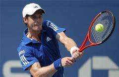 <p>Andy Murray durante jogo contra Lukas Lacko no Aberto dos EUA em Nova York. 01/09/2010 REUTERS/Eduardo Munoz</p>