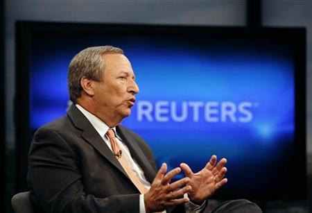 Senior White House economic adviser Lawrence Summers speaks during an interview with Reuters in Washington, June 24, 2010. REUTERS/Molly Riley