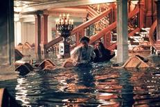"<p>Leonardo DiCaprio and Kate Winslet react in a scene as flooding takes place in the first class reception area in ""Titanic,"". REUTERS/Handout</p>"