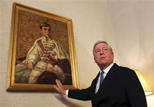 <p>Crown Prince Alexander II Karadjordjevic, son of Yugoslavia's last king and heir to the throne, gestures as he stands in the royal palace during an interview with Reuters in Belgrade October 5, 2010. REUTERS/Marko Djurica</p>