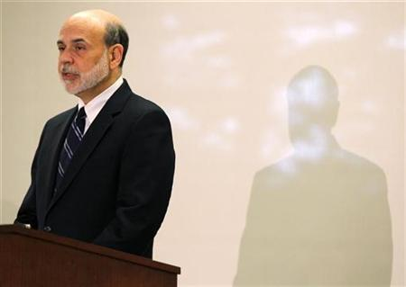 U.S. Federal Reserve Board Chairman Ben Bernanke speaks at the Federal Reserve Bank of Boston in Boston, Massachusetts October 15, 2010. REUTERS/Adam Hunger