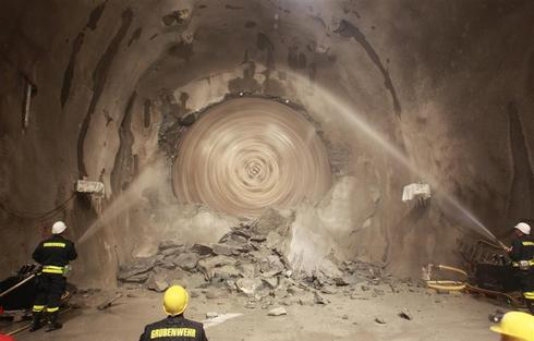 Breakthrough at longest train tunnel