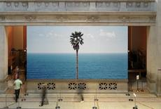 "<p>John Baldessari's ""Palm Tree/Seascape"" in the lobby of The Metropolitan Museum of Art. REUTERS/The Metropolitan Museum of Art/Handout</p>"