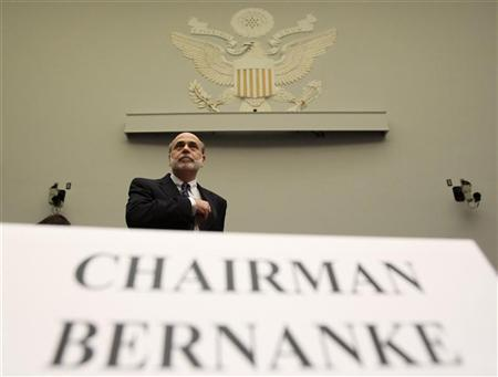 U.S. Federal Reserve Chairman Ben Bernanke arrives to testify before a House Financial Services hearing on the ''Monetary Policy and the State of the Economy'' on Capitol Hill in Washington, July 22, 2010. REUTERS/Jim Young
