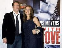 "<p>Actor John Travolta and his wife Kelly Preston arrive at the premiere of ""From Paris With Love"" in Paris February 11, 2010. REUTERS/Gonzalo Fuentes</p>"