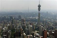 <p>Cityscape of Johannesburg in South Africa, a venue of the 2010 World Cup, February 18, 2010. REUTERS/Euroluftbild.de</p>