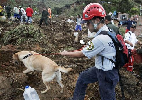 Deadly mudslides in Colombia